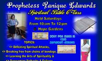 Prophetess Yanique Edwards Spiritual Bible Class @ Hope Gardens