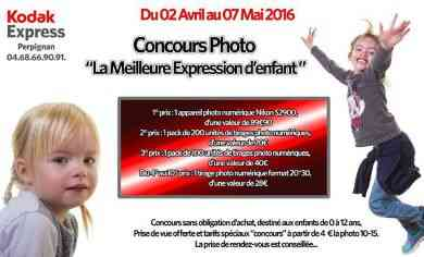 concours photo la meilleure expression d 39 enfant au kodak express perpignan avril 2016. Black Bedroom Furniture Sets. Home Design Ideas