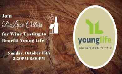 Wine Tasting to Benefit Young Life | DeLiese Cellars