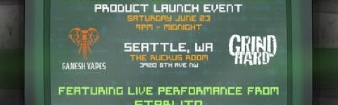 Ganesh Vapes Product Launch Event Featuring Starlito @ The