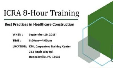ICRA 8-Hour Training: Best Practices in Healthcare Construction