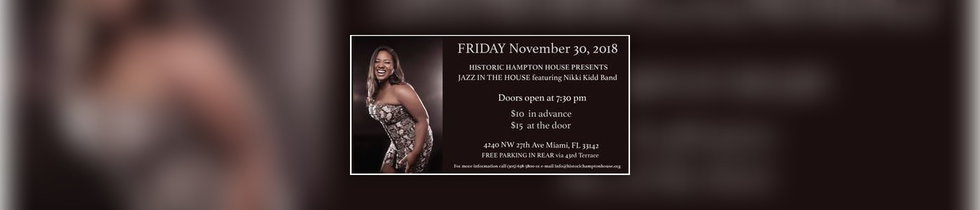 JAZZ IN THE HOUSE feat. Nikki Kidd Band