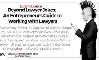 Lunch & Learn - Beyond Lawyer Jokes @ Wework Brickell City Centre